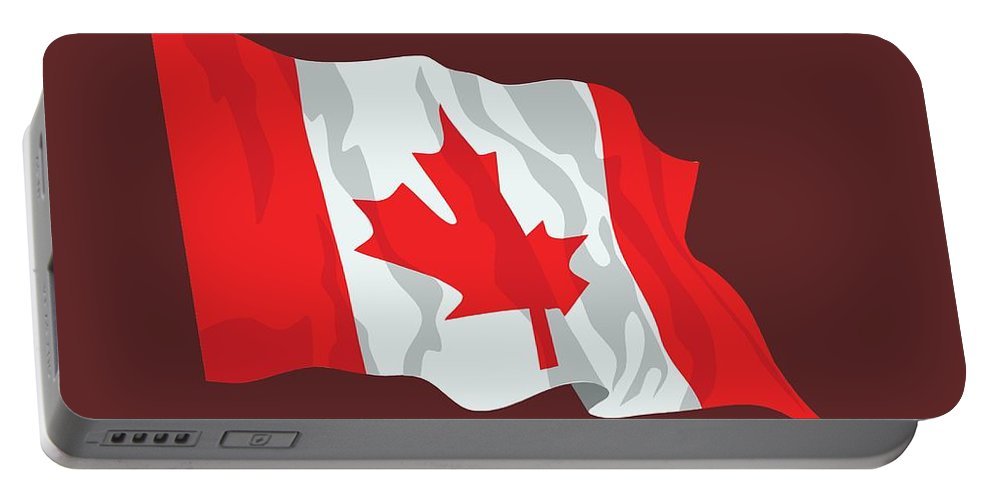 Flag Portable Battery Charger featuring the digital art Canada Flag by Frederick Holiday