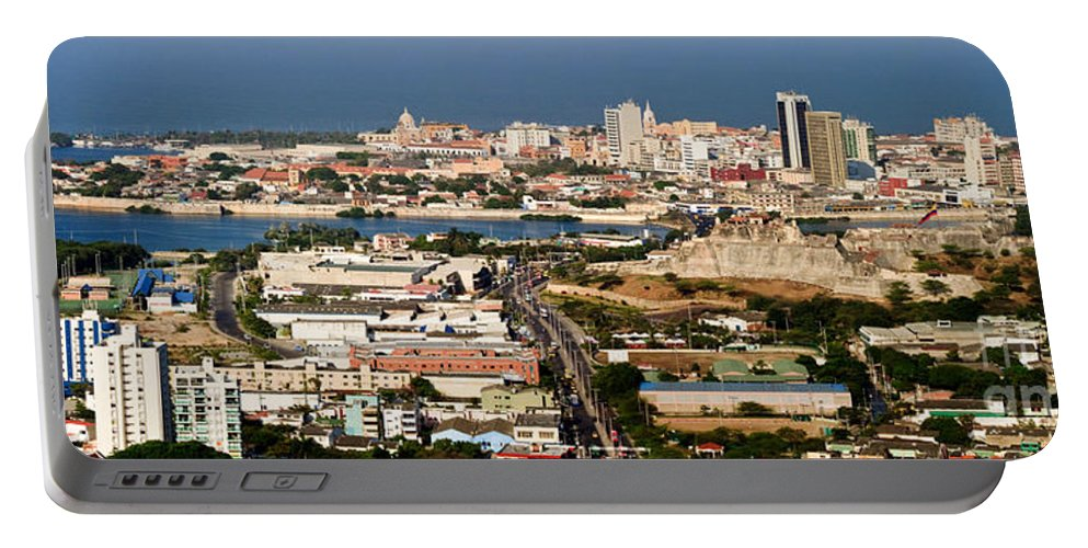 Cartegena Portable Battery Charger featuring the photograph Cartegena Colombia by Thomas Marchessault
