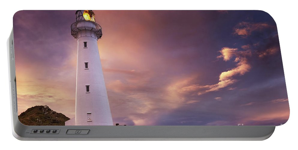 Beacon Portable Battery Charger featuring the photograph Castle Point Lighthouse by Dmitry Pichugin
