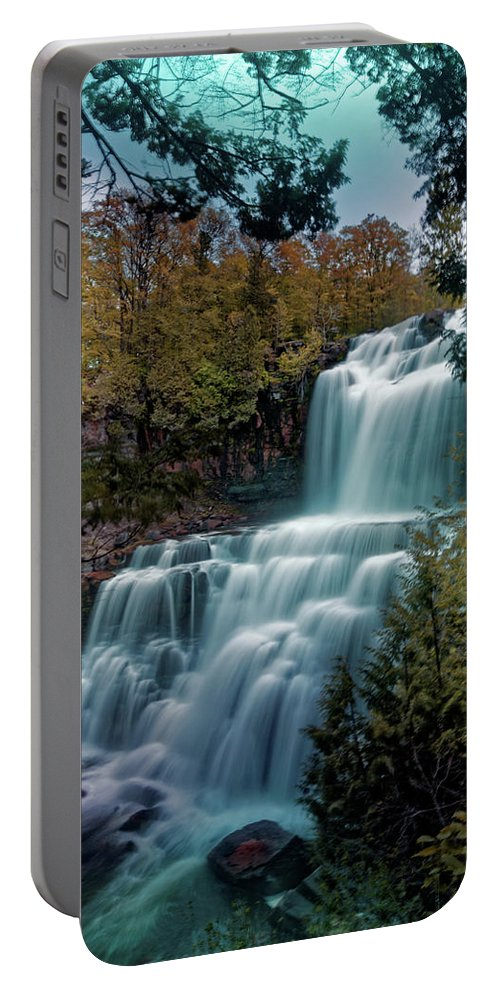 Chittanengo Falls Portable Battery Charger featuring the photograph Chittanengo Falls by Doolittle Photography and Art