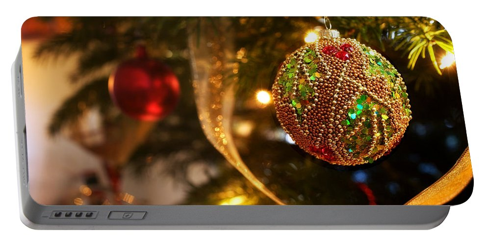 Christmas Portable Battery Charger featuring the photograph Christmas Tree Decorations by Mal Bray