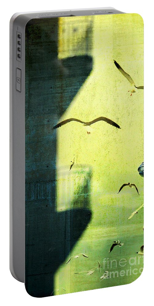 City Portable Battery Charger featuring the photograph City Shadow by Silvia Ganora