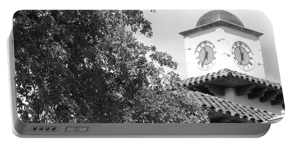 Clock Portable Battery Charger featuring the photograph Clock Tower by Rob Hans