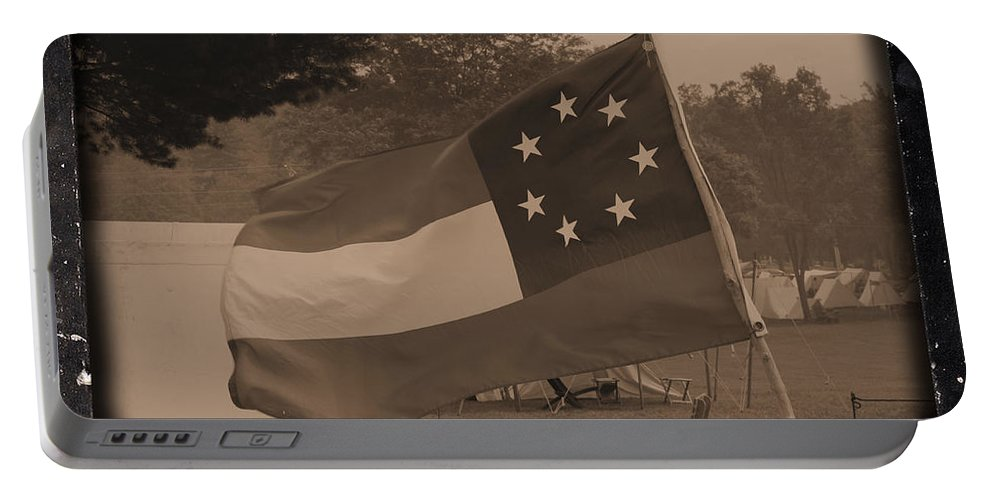Confederate Camp Portable Battery Charger featuring the photograph Confederate Camp by Tommy Anderson