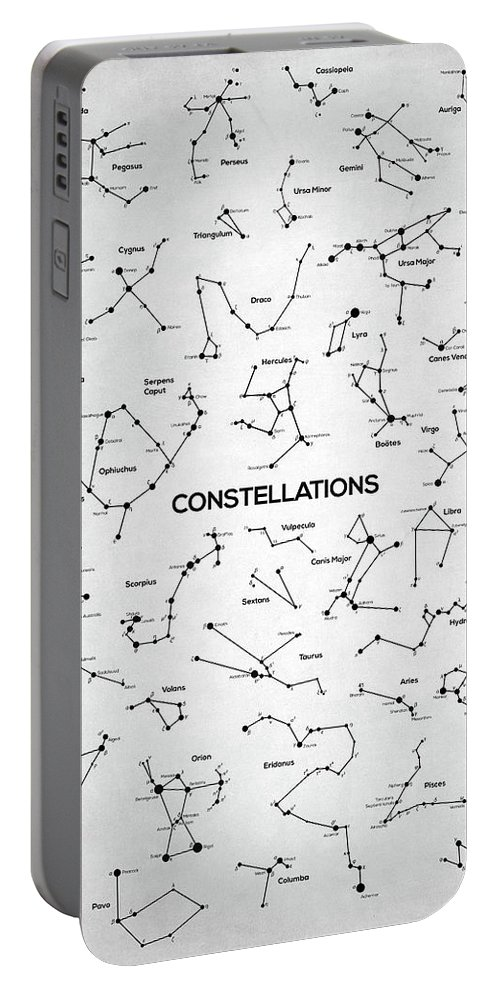 Constellation Portable Battery Charger featuring the digital art Constellations by Zapista