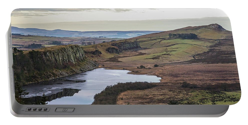 Roman Wall Portable Battery Charger featuring the photograph Crag Lough by David Pringle