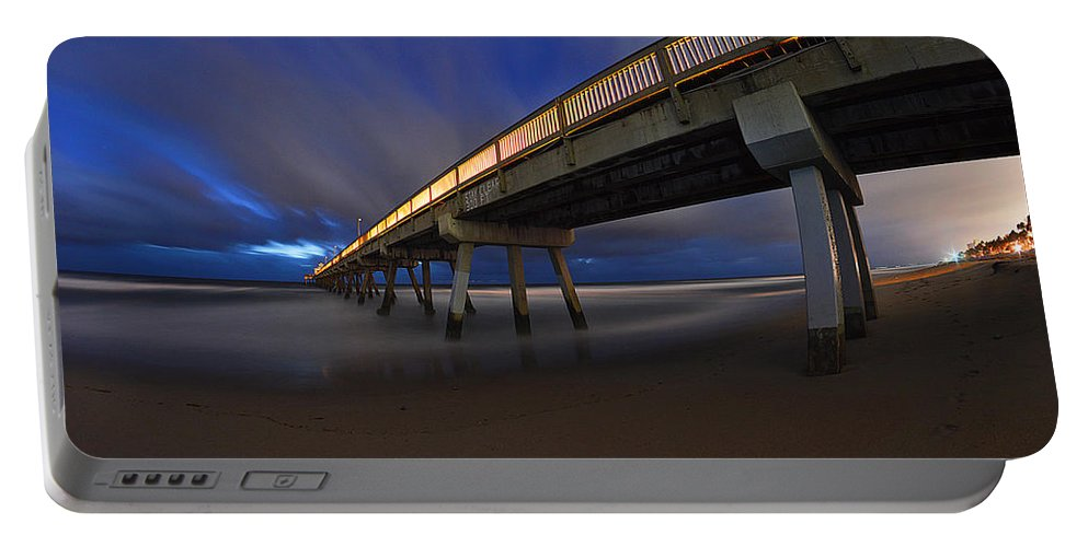 Deerfield Beach Portable Battery Charger featuring the photograph Deerfield Beach, Florida Pier by Paul Cook