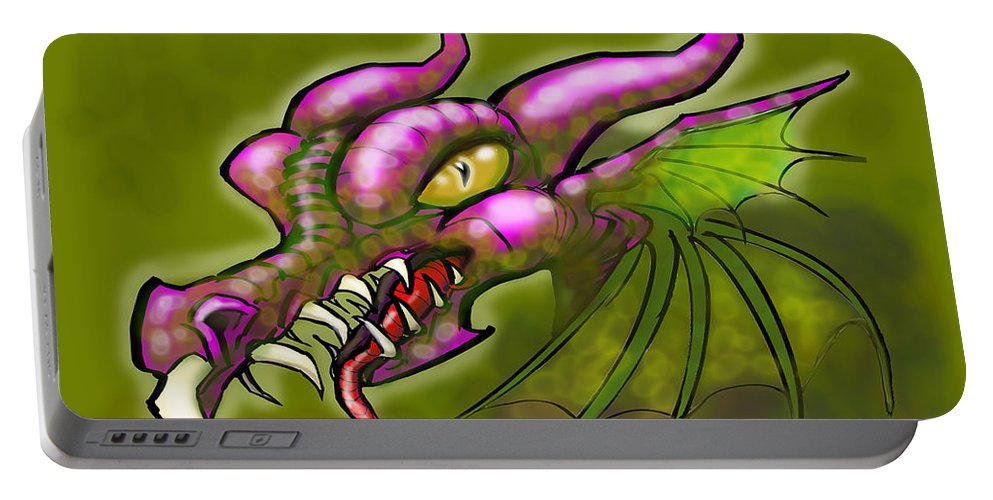 Dragon Portable Battery Charger featuring the digital art Dragon by Kevin Middleton