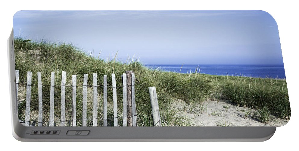 Beach Portable Battery Charger featuring the photograph Dune Fence by John Greim