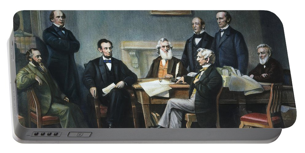 1862 Portable Battery Charger featuring the photograph Emancipation Proclamation by Granger