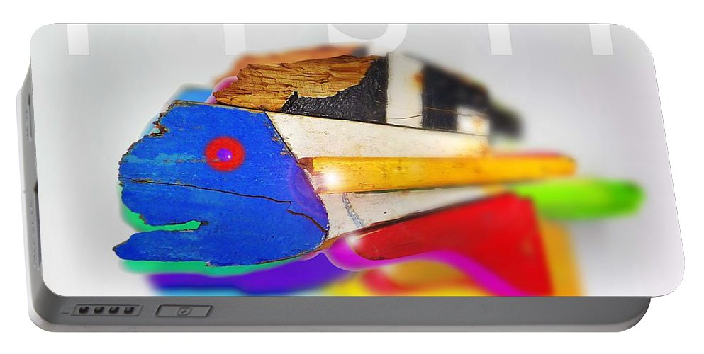 Fish Portable Battery Charger featuring the digital art Fish by Charles Stuart