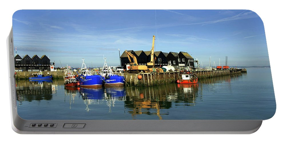 Fishing Portable Battery Charger featuring the photograph Fishing Boats At Whitstable Harbour 03 by Chris Laurens