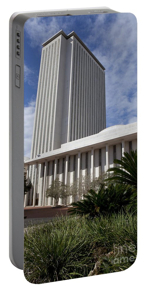 Florida Portable Battery Charger featuring the photograph Florida State Capitol Building by Anthony Totah