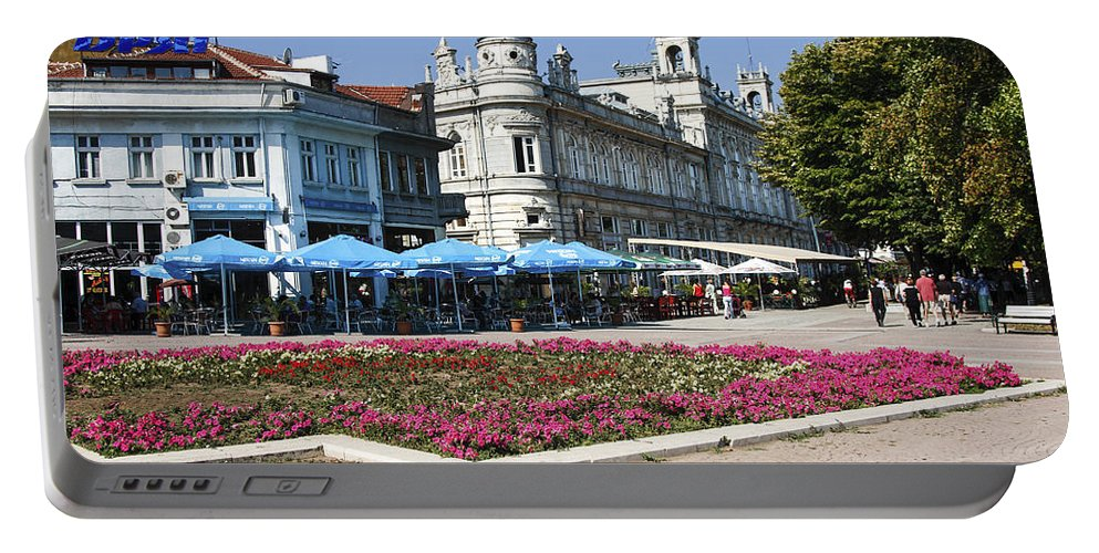 Freedom Square Portable Battery Charger featuring the photograph Freedom Square, Ruse, Bulgaria by Sally Weigand