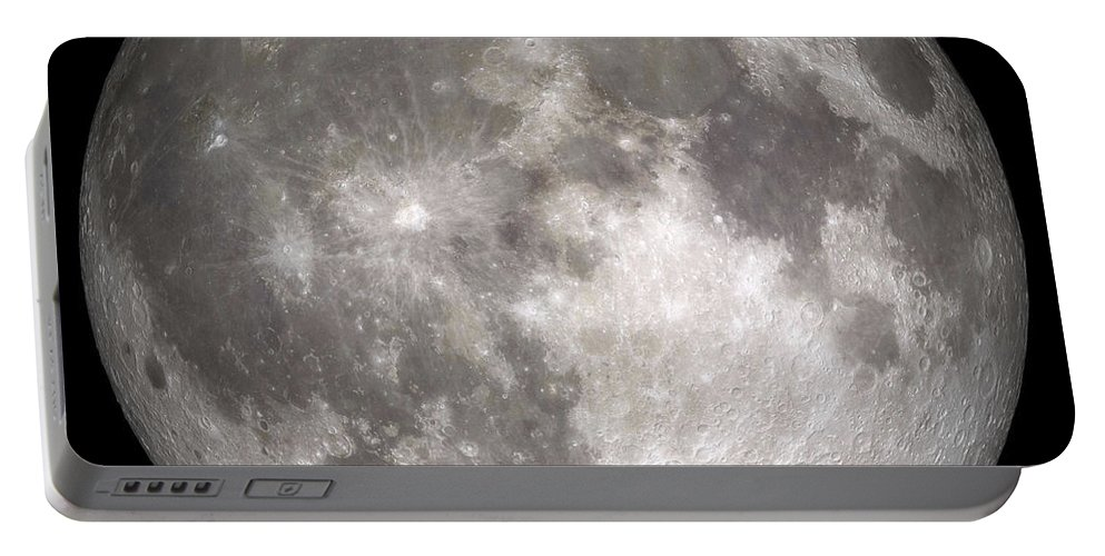 Digital Composite Portable Battery Charger featuring the photograph Full Moon by Stocktrek Images