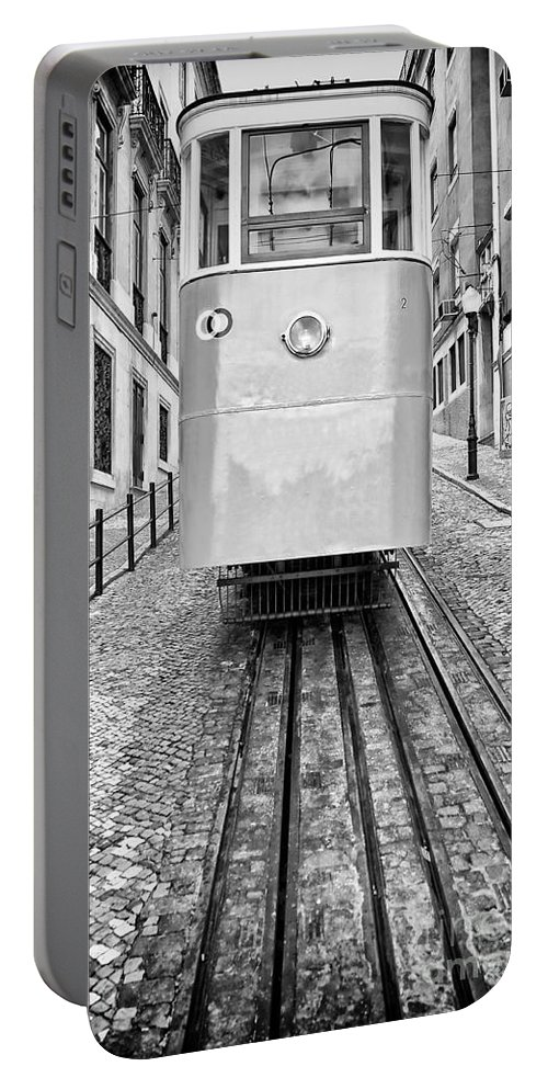 Elevador Portable Battery Charger featuring the photograph Gloria Funicular by Jose Elias - Sofia Pereira