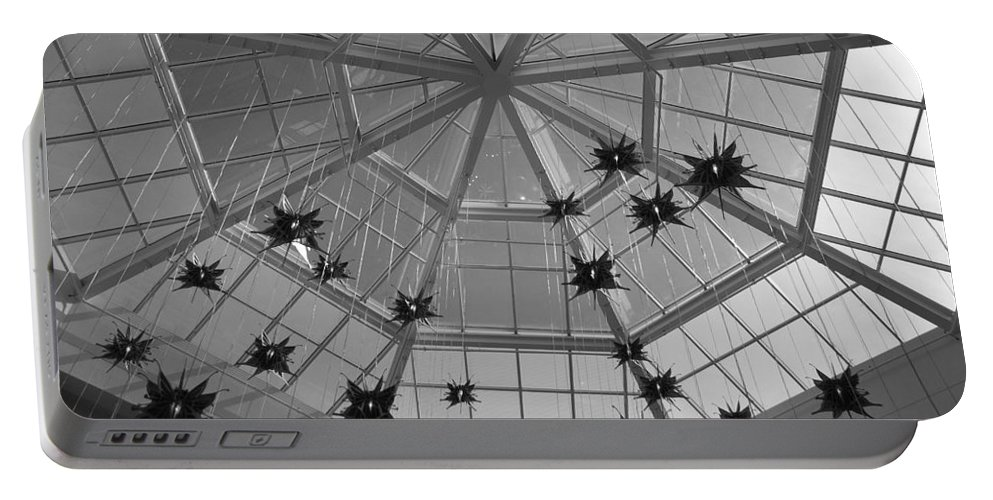 Black And White Portable Battery Charger featuring the photograph Hanging Butterflies by Rob Hans