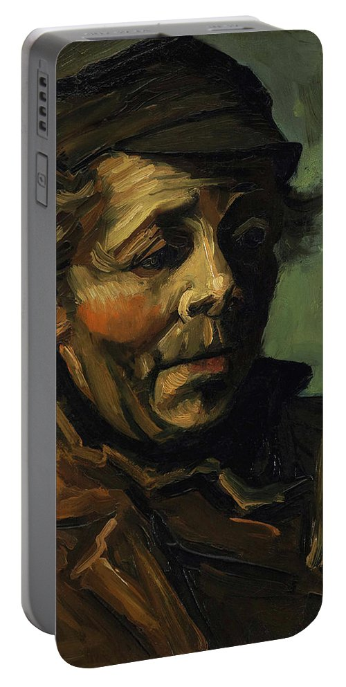 Head Portable Battery Charger featuring the painting Head Of A Peasant With Cap by Vincent van Gogh