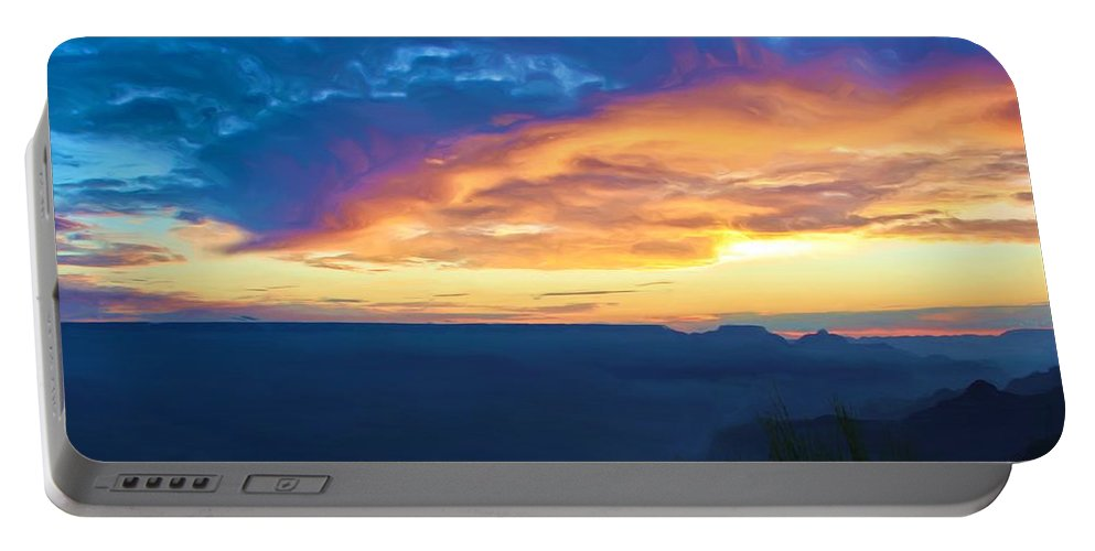 Grand Canyon Portable Battery Charger featuring the photograph Here Comes The Sun by Heidi Smith