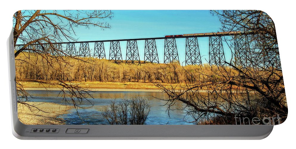 Bridge Portable Battery Charger featuring the photograph High Level Bridge by Valentina Tkachuk