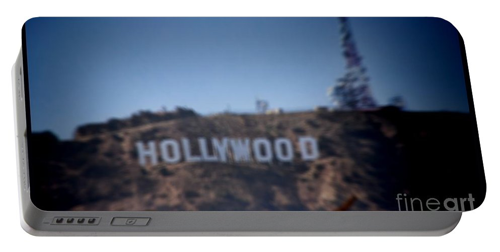 Hollywood Portable Battery Charger featuring the photograph Hollywood Sign by RJ Aguilar