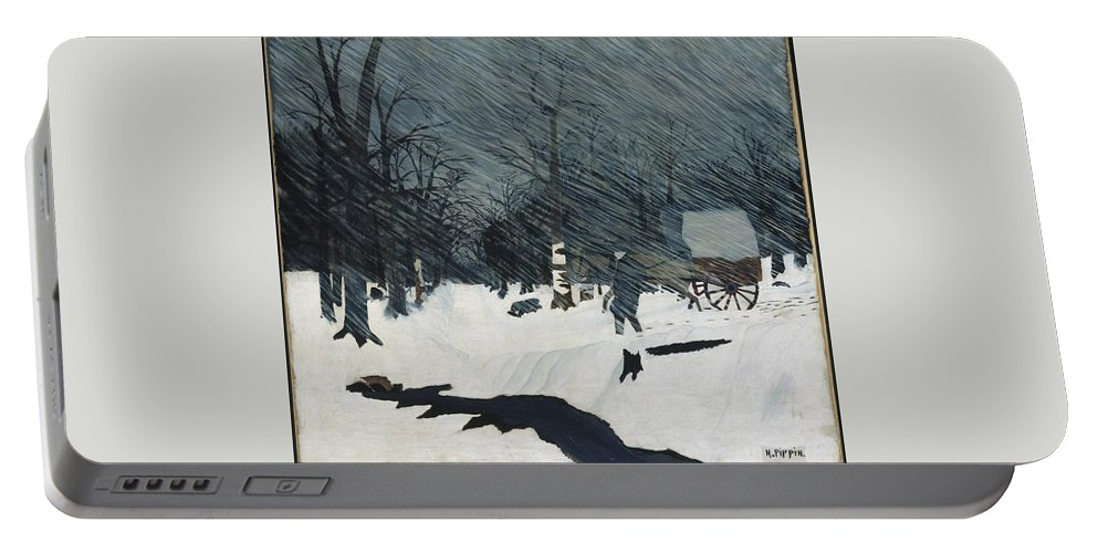 Country Doctor (night Call) 1935 Horace Pippin (american Portable Battery Charger featuring the painting Horace Pippin by MotionAge Designs