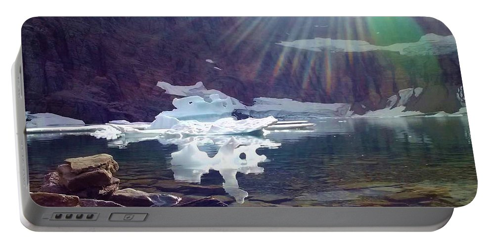Mountains Portable Battery Charger featuring the photograph Iceberg Lake by Eric Fellegy