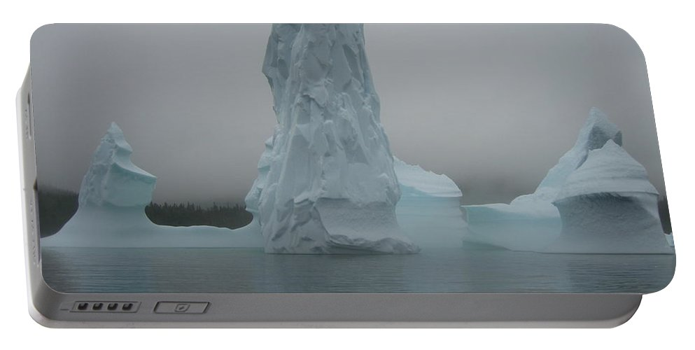 Icebergs Newfoundland Portable Battery Charger featuring the photograph Icebergs by Seon-Jeong Kim