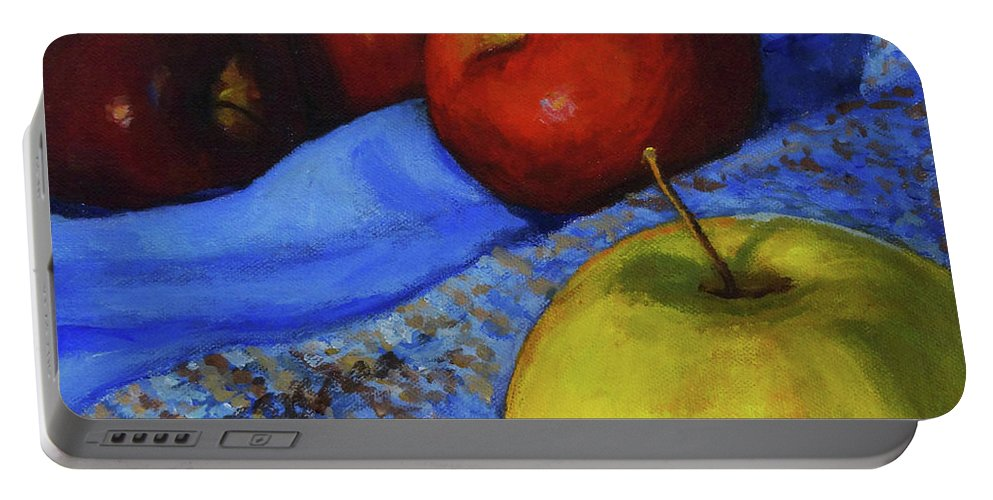 Apples Portable Battery Charger featuring the painting Its Okay To Be Different by Joan Coffey