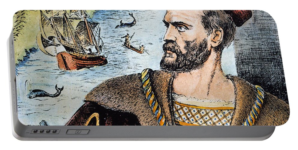 16th Century Portable Battery Charger featuring the photograph Jacques Cartier (1491-1557) by Granger