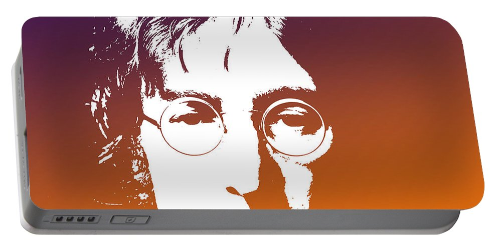Beatles Portable Battery Charger featuring the digital art John Lennon The Legend by Chris Smith