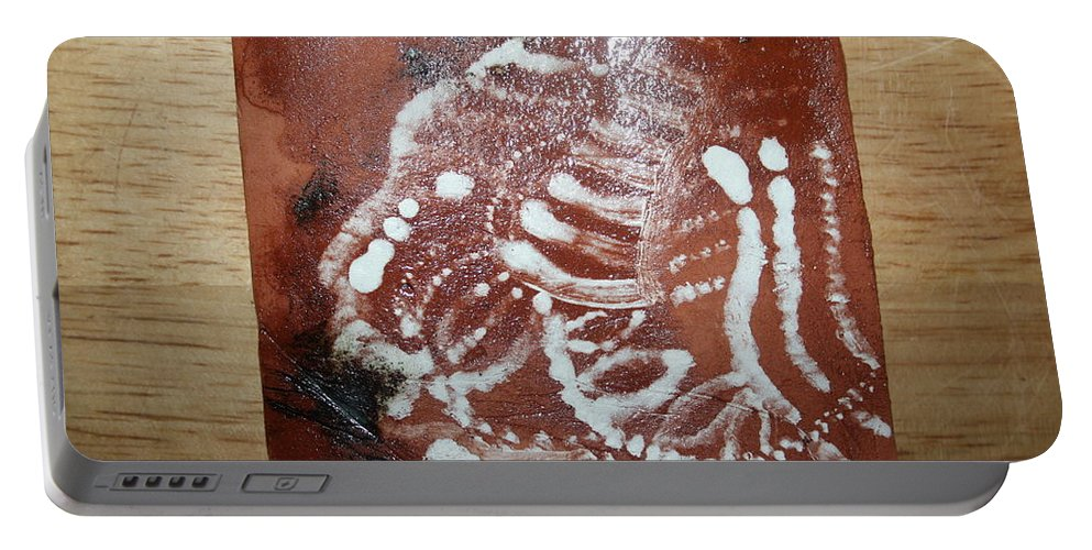 Jesus Portable Battery Charger featuring the ceramic art Last One - Tile by Gloria Ssali