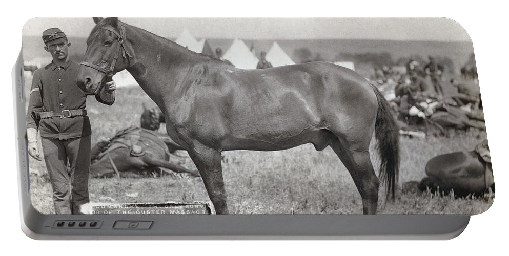1887 Portable Battery Charger featuring the photograph Little Bighorn, 1876 by Granger