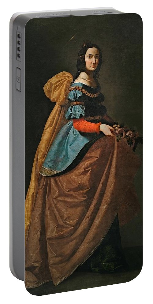 ZurbarÁn Portable Battery Charger featuring the painting Madrid by MotionAge Designs