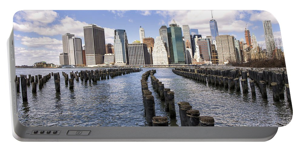 New Portable Battery Charger featuring the photograph Manhattan by Paul Fell