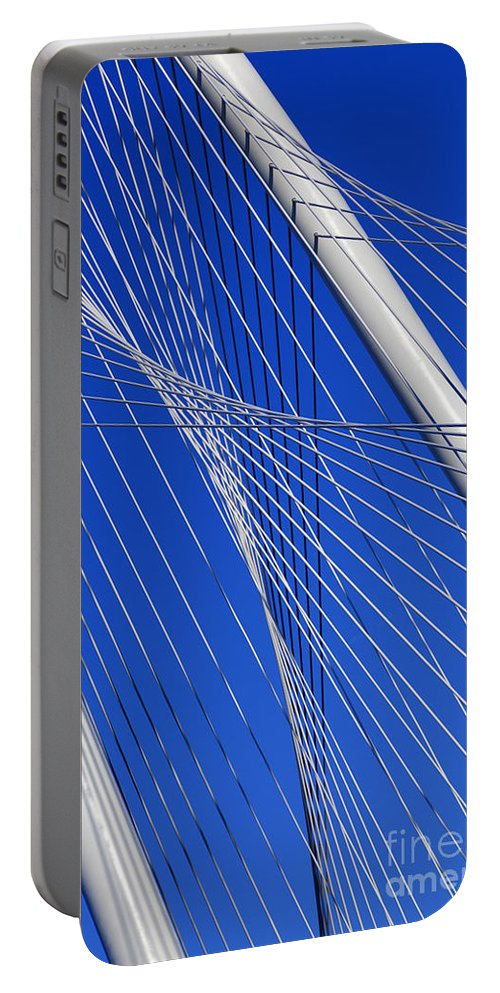 New Portable Battery Charger featuring the photograph Margaret Hunt Hill Bridge In Dallas - Texas by Anthony Totah