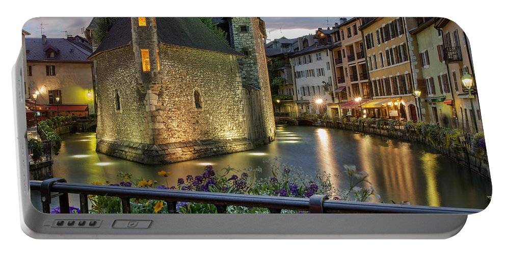 Medieval Jail In Annecy Portable Battery Charger featuring the photograph Medieval Jail In Annecy by Yefim Bam