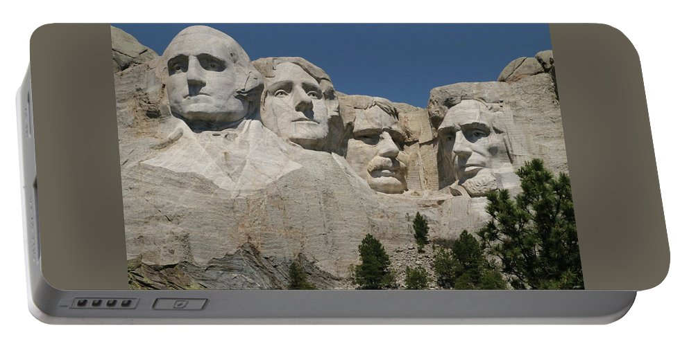 Mount Rushmore Portable Battery Charger featuring the photograph Mount Rushmore by Ira Marcus