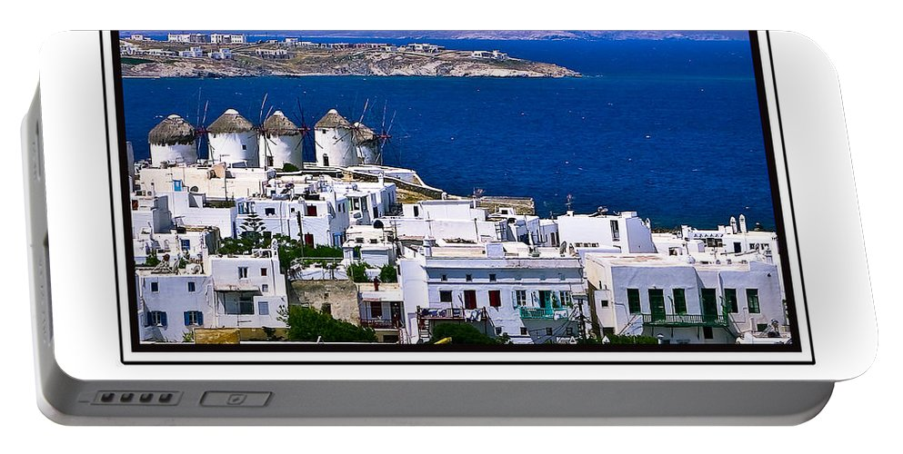 Mykonos Portable Battery Charger featuring the photograph Mykonos by Madeline Ellis