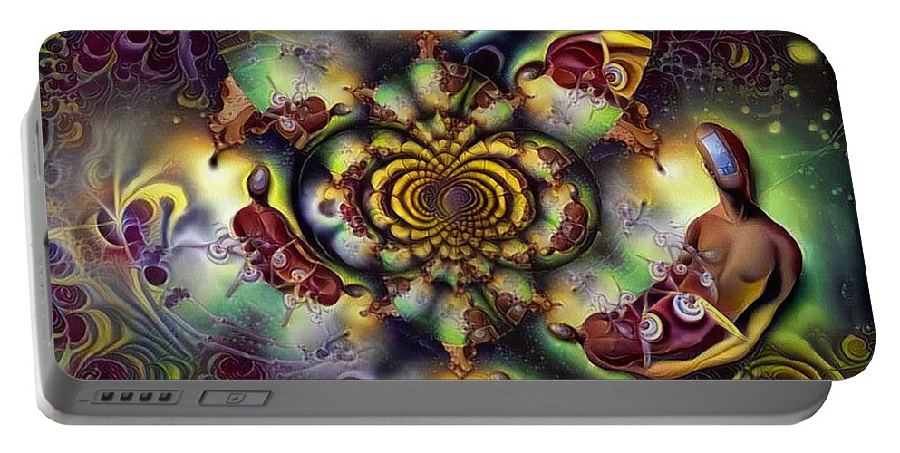 Modern Portable Battery Charger featuring the digital art Open Mind by Bruce Rolff
