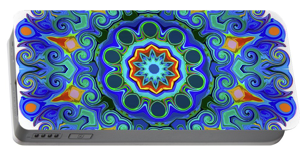 Mandala Art Portable Battery Charger featuring the painting Peace by Jeelan Clark