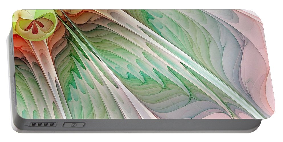 Digital Art Portable Battery Charger featuring the digital art Petals by Amanda Moore