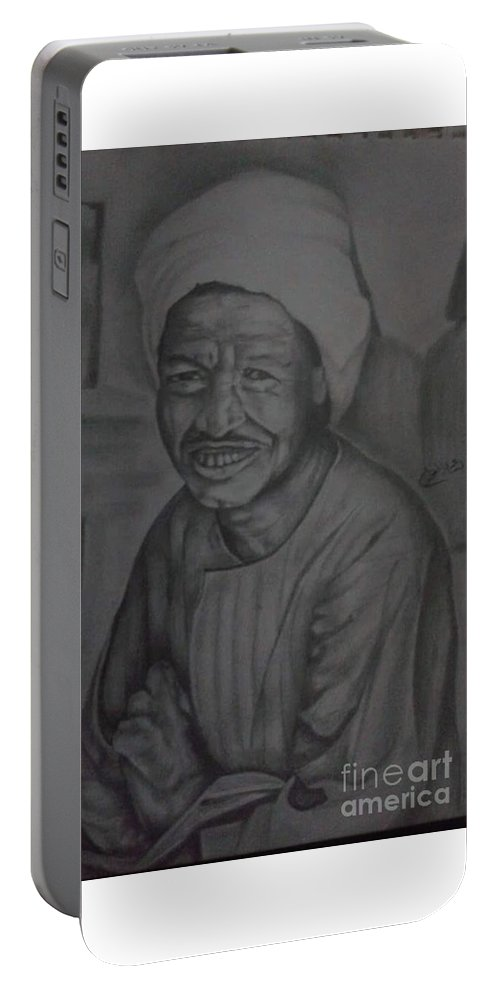 Portable Battery Charger featuring the drawing Portrait by Bassam Elphakharany