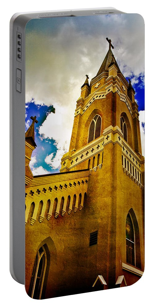 Church Portable Battery Charger featuring the photograph Reaching For The Heavens by Scott Pellegrin