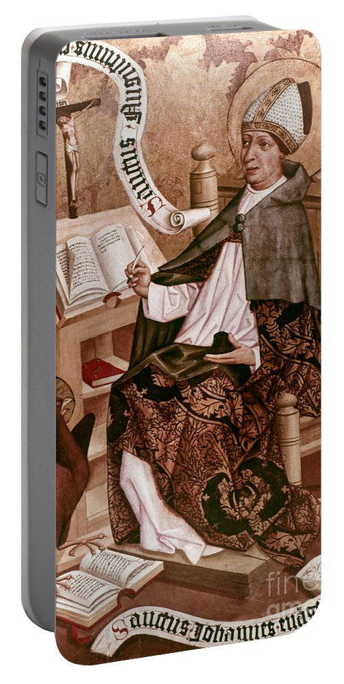 4th Century Portable Battery Charger featuring the painting Saint Augustine (354-430) by Granger