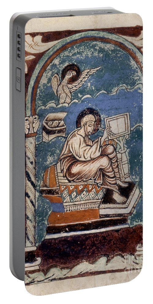 10th Century Portable Battery Charger featuring the painting Saint John by Granger