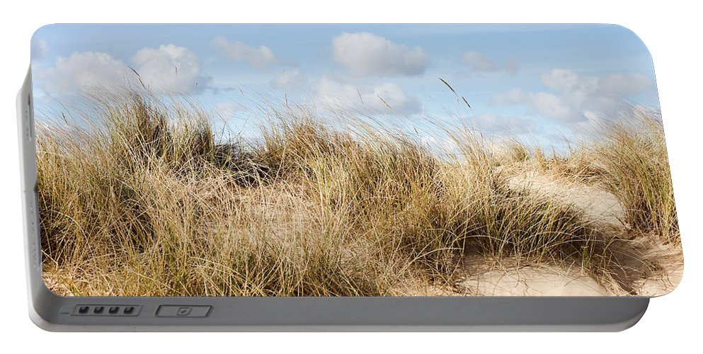 Background Portable Battery Charger featuring the photograph Sand Dune by Tom Gowanlock