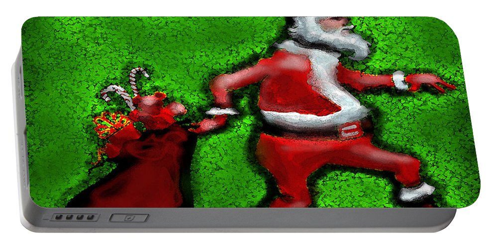 Santa Portable Battery Charger featuring the painting Santa Claus by Kevin Middleton