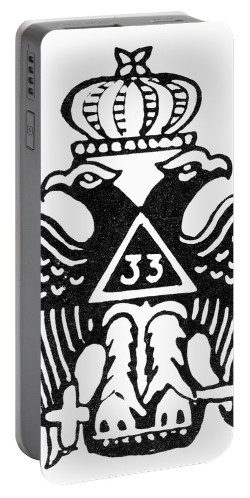 33rd Degree Portable Battery Charger featuring the photograph Seal: Freemasonry by Granger