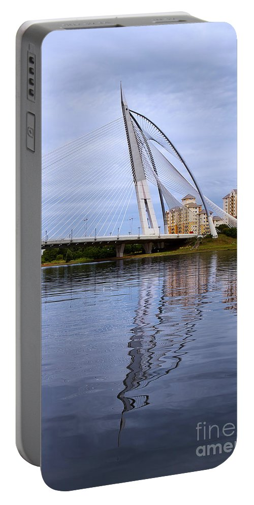 Travel Portable Battery Charger featuring the photograph Seri Wawasan Bridge by Louise Heusinkveld
